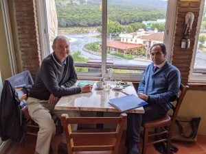 Lunch with Charles Edwards, president of Las Delicias Urbanization in Coin