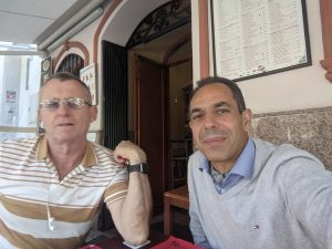 Lunch with Patrick Meehan, ex-president of Edificio Acapulco in Los Boliches